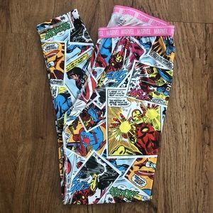 a588c92d7a Marvel Comics Stretchy Leggings Pants Large L
